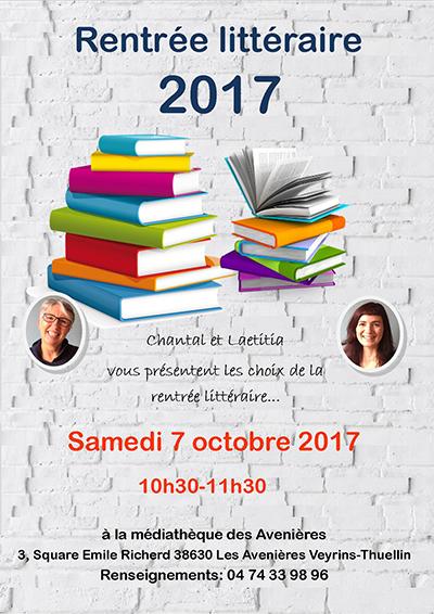 Affiche Rentrée littéraire 2017